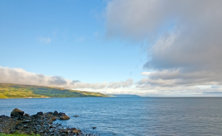 northern ireland: Morning Clouds on the Coast of Northern Ireland