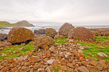 northern ireland: Pillow Lava formations near Ballycastle, Northern Ireland
