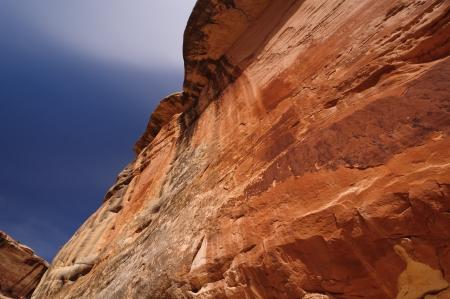 Sandstone wall in Natural Bridges National Monument in Utah 版權商用圖片