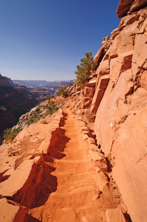 kaibab trail: The South Kaibab Trail in the Grand Canyon Stock Photo