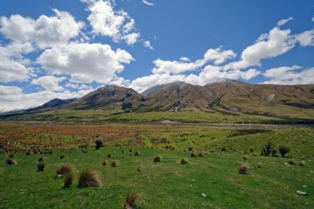 Grasslands near Mt Sunday in Canterbury, New Zealand