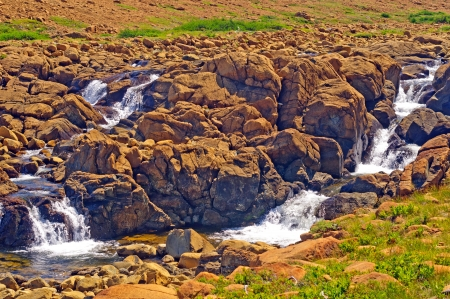morne: The Trout River Cascades in the Tablelands of Gros Morne
