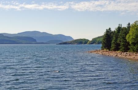 bonne: Bonne Bay in Gros Morne National Park in Newfoundland Stock Photo