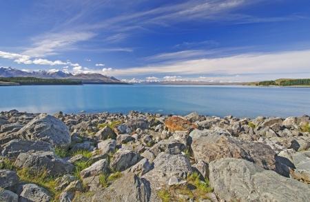 Lake Pukaki in Canterbury on the South Island of New Zealand