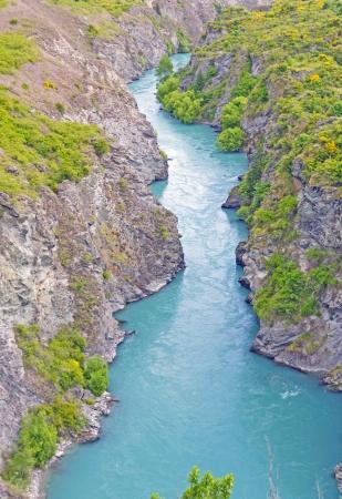 Kawarau River on the South Island of New Zealand