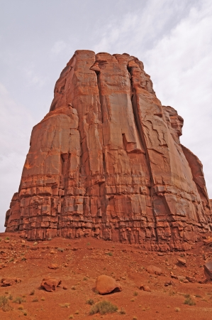 Monolith: Monolith in Monument Valley in Arizona