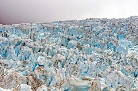 franz josef: Ice fall on the Franz Josef Glacier in New Zealand