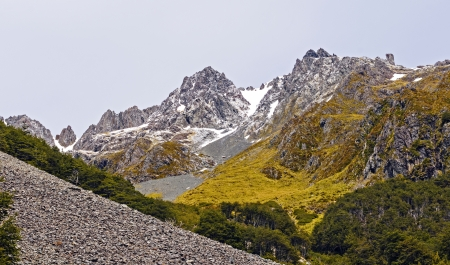 nelson: Mt Angelus in Nelson Lake National Park in New Zealand
