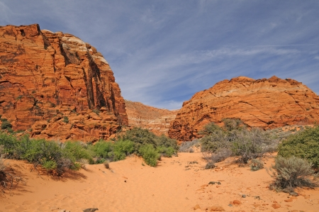 The Three ponds Trail in Snow Canyon State Park in Utah