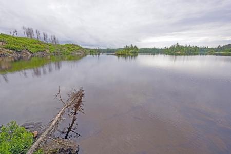 long lake: Long Island Lake in the Boundary Waters in Minnesota
