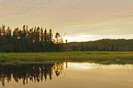 manche: Sunset on La Manche Provincial Park in Newfoundland