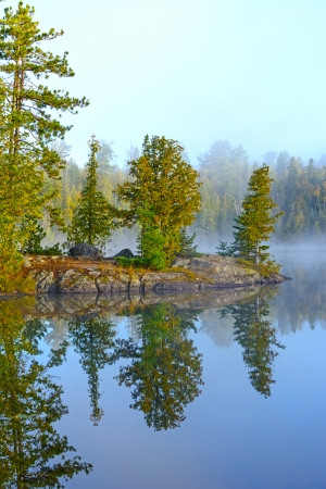 Early Morning on Ottertrack Lake in the Boundary Waters of Minnesota