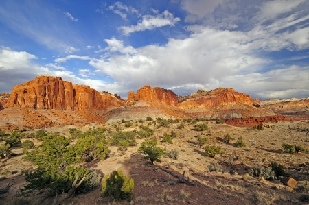 Spring Canyon Panorama in Capital Reef National Park in Utah photo