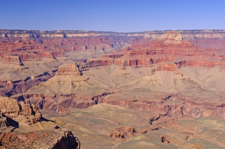 south kaibab trail: View of the Grand Canyon from the South Kaibab Trail