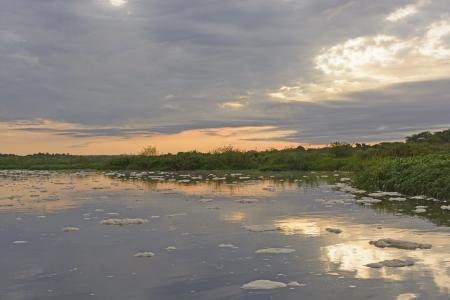 Sunrise on the Victoria Nile in Uganda photo