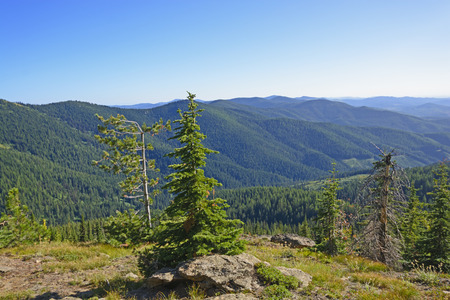 Remote Vista in the Mountains of Idaho Stock Photo