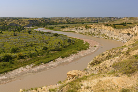 The Little Missouri River in Theodore Roosevelt National Park photo