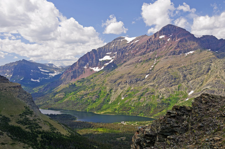 national scenic trail: View along the Scenic Point Trail in Glacier National Park