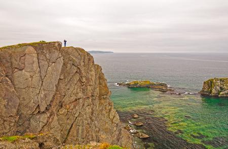 observer: Observer on the Skerwink Rocks on the Coast of Newfoundland