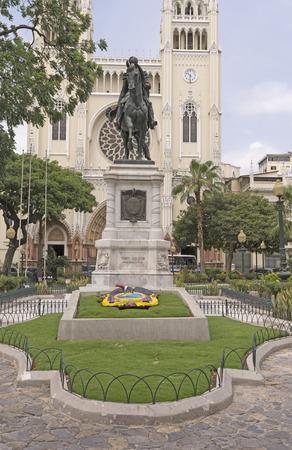 guayaquil: Statue of Simon Bolivar in Parque Seminario in Guayaquil, Ecuador