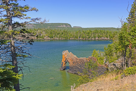 Sea Lion Rock in Lake Superior in Sleeping Giant Provincial Park in Ontario photo