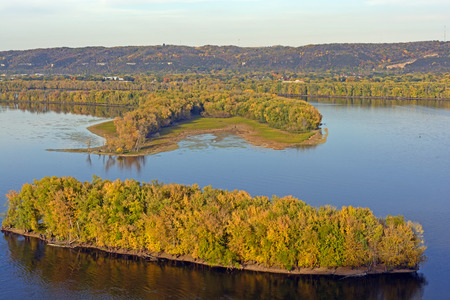 bayou: Fall on the Mississippi River Stock Photo