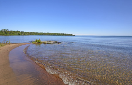 north woods: Findlay Bay on a summer day on Lake Superior  in Ontario