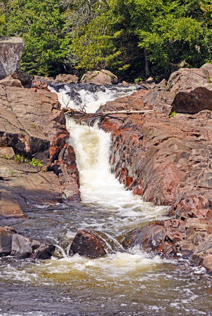 rushing water: Water Chute on the Sand River in Lake Superior Provincial Park in Ontario
