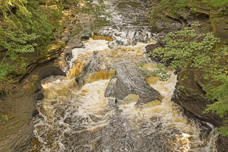 rushing water: The Kettles on the Presque Isle River in Michigan
