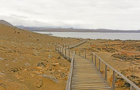 bartolome: Boardwalk to the Ocean on a Bartolome Island in the Galapagos