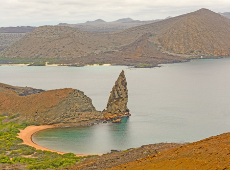 pinnacle: Pinnacle Rock on Bartoleme Island in the Galapagos