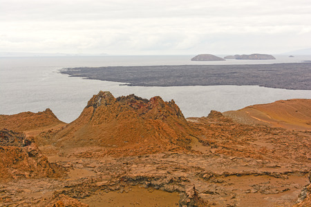bartolome: Spatter Cone on a Bartolome Island in the Galapagos Stock Photo