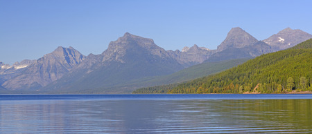 mcdonald: Colorful Mountains Above and Lake McDonald in Glacier National Park in Montana