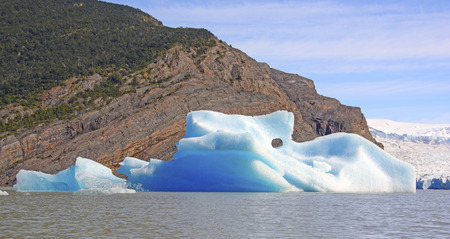 patagonian chile: Colorful Iceberg by the Grey Glacier in Torres del Paine National Park in Patagonian Chile