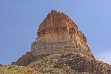 butte: Colorful Butte in a Desert Landscape in Big Bend National Park