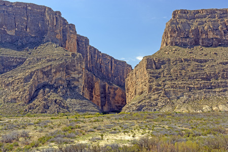 テキサス州ビッグベンド国立公園でサンタ エレナ峡谷 写真素材