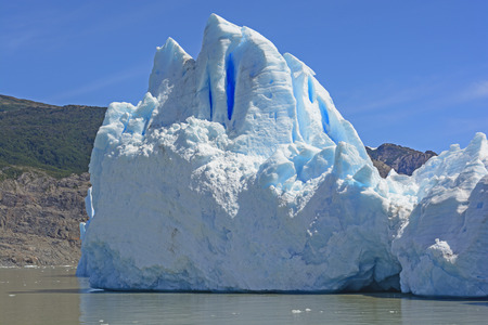 patagonian chile: Iceberg at the Edge of the Grey Glacier in Torres del Paine in Patagonian Chile