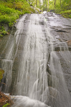 smoky mountains: Fern Branch Falls in the Smoky Mountains in the Spring