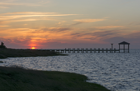 hatteras: Sunset on the Outer Banks on North Carolina