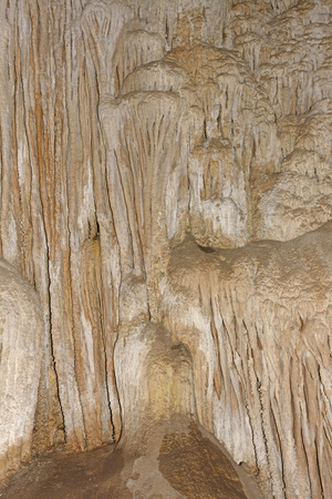 carlsbad: Unique Curtain Wall in Carlsbad Caverns in New Mexico Stock Photo