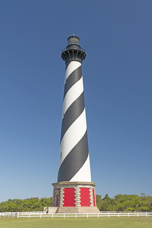 hatteras: Cape Hatteras Lighthouse near Buxton, North Carolina on the Outer Banks Stock Photo