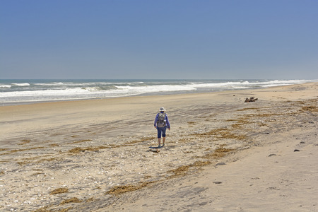 hatteras: Heading out on a Remote Beach on Cape Hatteras in North Carolina