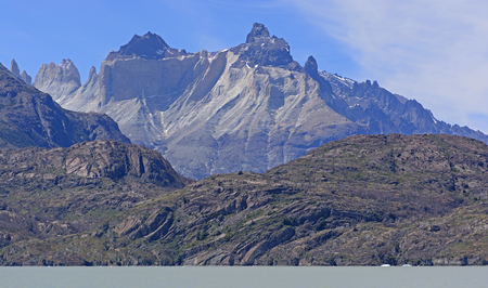 patagonian chile: Cuernos del Paine Horns of Blue in Torres del Paine National Park in Patagonian Chile.