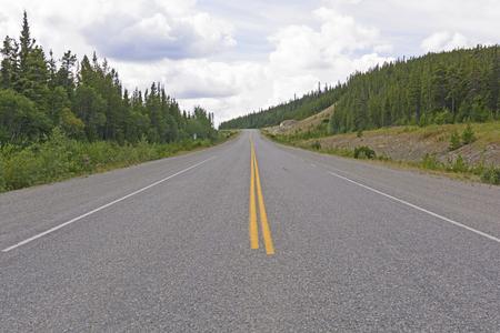 yukon: The Alaska Highway near Rancheria Falls in the Yukon