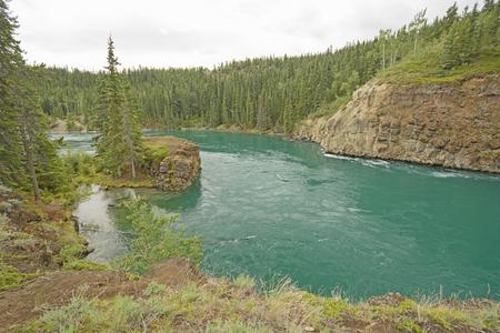 whitehorse: The Yukon River Entering Miles Canyon near Whitehorse, Yukon