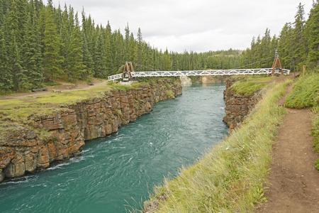 whitehorse: Footbridge over Miles Canyon on the Yukon River near Whitehorse, Yukon