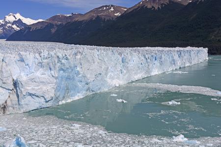 patagonian: Oblique View of the Perito Moreno Glacier in Los Glaciares National Park in Patagonian Argentina