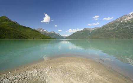 crescent lake: Crescent Lake in the Wilderness of Lake Clark National Park in Alaska