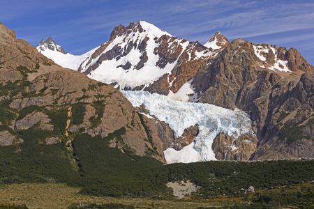 chalten: Glaciers and Mountains of the Southern Andes of Los Glaciares National Park near El Chalten in Argentina