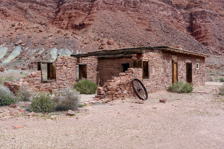 outpost: Ruins at Lees Ferry in the Glen Canyon National Recreation Area in Arizona